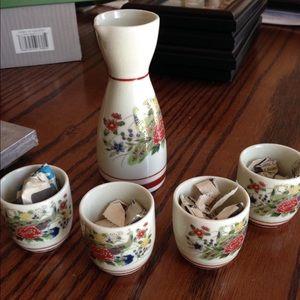 Vintage Japanese Sake Set